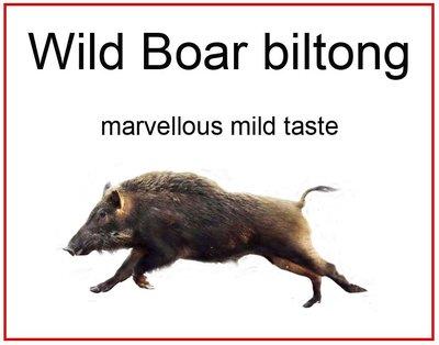 Wildschwein biltong excl. Versand.
