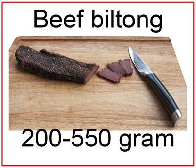 Beef biltong large pieces from 200 to 550 gram excl. postage