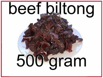 Beef biltong original 500 gram incl. porto