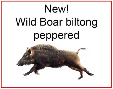Wild zwijn biltong peppered excl. porto.