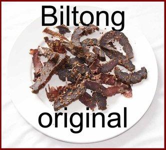 Beef biltong original bites 300 gram incl. porto