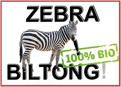 Zebra biltong,  excl. porto.