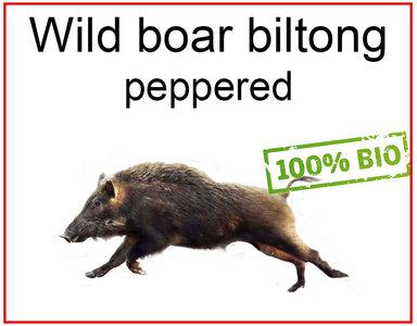 Wild zwijn biltong jerky biologisch