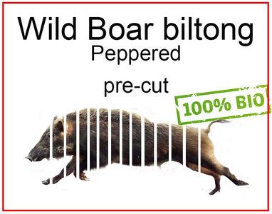Wild boar zwijn biltong jerky biologisch vlees