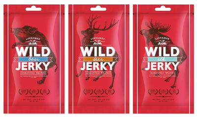 Wild jerky testset 3 x 40 gram incl. porto